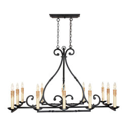 World Imports 61819-42 Rennes Rust 12 Light Chandelier - World Imports 61819-42 Rennes 12-Light Chandelier in Rust - Wattage: 60 W. - # of Bulbs: 12. - Socket Type: Candelabra. - Installation Required: Yes. - Weight: 42lbs.