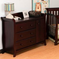 Storkcraft - Aspen 3-Drawer Combo Dresser - The perfect way to add extra storage space in your nursery without additional furniture! This gorgeous Aspen Combo Dresser from Storkcraft features three spacious drawers and an oversized drawer ideal for storing larger baby items, such as towels and blankets. Shipped with anti-shipping harder which allows this combo cabinet to be anchored to the wall, this chest is not only functional but also designed with safety in mind. Available in four luxurious, non-toxic finishes, this combo cabinet is a must-have for a nursery. Features: -Dresser.-Material: Hardwood.-Drawers with steel glides and safety stoppers.-Shipped with anti-tipping hardware.-Can be anchored to a wall to prevent accidents.-Ready to assemble.-High quality, non-toxic finished.-Aspen collection.-Collection: Aspen.-Distressed: No.Dimensions: -Overall Product Weight: 105 lbs.