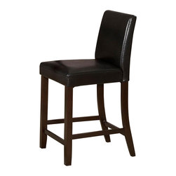 Homelegance - Weitzmenn Counter Height Chair - Set of 2 - The simplistic elegance of this collection makes it a great addition for any casual dining spaces.