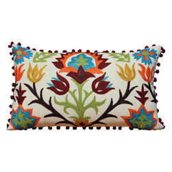 Auburn Design Studio - Decorative Pillow - Pillow Cover is made of 100% cotton.
