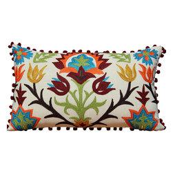 Auburn Design Studio - Decorative Pillow - Pillow Cover is made of 100% cotton.