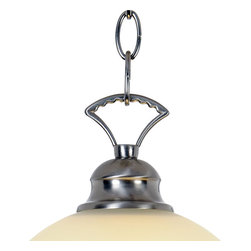 Premier - One Light 16 inch Pendant Fixture 617255 - Brushed Nickel - AF Lighting 617255 16in. W by 9-1/2in. H Wellington Lighting Collection 1 Light Pendant, Brushed Nickel.