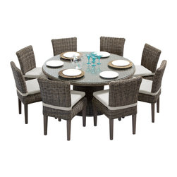 vintage stone 60 outdoor patio dining table with 8 chairs outdoor