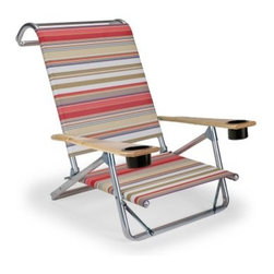 Telescope Original Mini-Sun Chaise with Cup Holders - Silver Aluminum Frame - Be spectacular in the sun as you lounge in the Telescope Original Mini-Sun Chaise- Gloss White Frame. Whether it's the water the sun or the drinks with the umbrellas that relax you this chair with four easy-to-adjust positions will help you get your bliss on the beach. Full of amenities it includes two cup holders wooden arm rests and even a towel rack for added convenience. About Telescope Casual FurnitureAfter 100 years in an industry where design differentiation is crucial for success Telescope Casual Furniture has become known for its ability to stand out. The century-old manufacturer exceeds most retailers' expectations not only by consistently turning out unique products but also by maintaining an unwavering stance with respect to quality. Recipient of the Casual Furniture Retailers Association Manufacturer Leadership Award the Granville N.Y.-based company will continue to push the envelope on already high standards for the next 100 years.