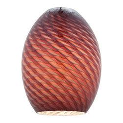 Access Lighting - Access Lighting 23123-PLMFB Brandy Pendant Glass Shade - Access Lighting 23123-PLMFB Firebird Brandy Pendant Glass Shade