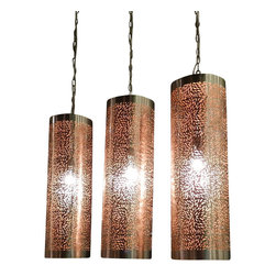 Artemano - Pierced Metal Cylinder Hanging Lamp With Floral Design - Set the right mood with the help of our charming Pierced Metal Cylinder Hanging Lamp in any space or any room that you please. Crafted of brushed silver iron metal, this cylindrical pendant lamp has a perforated floral design that creates the perfect diffuser for soft, ambient lighting. A stylish industrial chic accent piece that will add dimension and glam at a surprisingly affordable price!