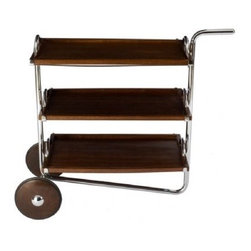 GW Tea Cart by Gregori Warchavchic - Whether you're having the ladies over for tea, or are looking for a great place to store your books and magazines, this tea cart will add a big dollop of mid-century style wherever you roll it!
