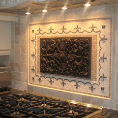 traditional kitchen tile by American Tile and Stone/Backsplashtogo.com