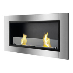 IGNIS - Ignis Bio Ethanol Fireplace Lata with Safety Glass - *Design Patent Pending - 29/469,483