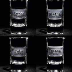 Groomsmen Gift Ideas, Engraved Best Man Gifts - Best Man, Groomsmen Engraved Shot Glass Gifts, Set of 4