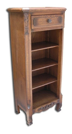EuroLux Home - New Bookcase Oak French Oak 3-Shelf - Product Details