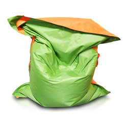 Turbo BeanBags - Beanbag Pillow Large, Orange And Green, Filled Bag - Large Pillow is a ideal comfortable beanbag for adults. It does not take much space, you can easily transfer, ideal for fun, exercise and sleeping. You can choose from different colors.