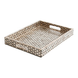 Made Goods - Killian Small Brown Tray - Whether you use it for serving or just as an elegant accent piece, this extraordinary tray is a stunning addition to your decor.