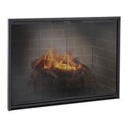 Stiletto Aluminum Fireplace Glass Door - Custom Product -