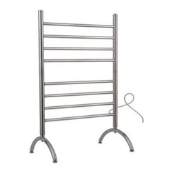 WarmlyYours Barcelona TW-BC-08BS-FS Free Standing 8-Bar Towel Warmer - Brushed S - About WarmlyYoursWith over 12 years business and trusted industry experience, WarmlyYours' good name thrives from their innovative designs, renowned customer service, and No Nonsense warranties. Specifically, their maintenance-free electric heating solutions for flooring and radiant heating for any type of room hold up nicely with today's mix of modern and classic styles of decor. Not to mention, their first class customer service includes installation support around the clock and lifetime technical support in case you need their assistance in the future.