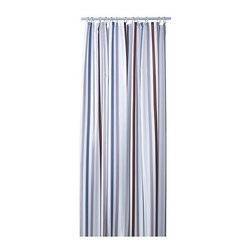 Emma Jones - BREDGRUND Shower curtain - Shower curtain, stripe gray