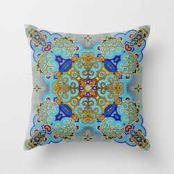 Kaleidoscopic Mosaic Throw Pillow Cover - Invite a little bit of geometric symmetry and a whole lot of rich color into your home. With its double-sided print and concealed zipper, this pillow cover can be tossed any which way in any room in your home.