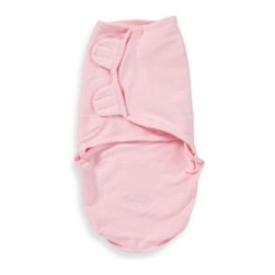 Summer Infant - SwaddleMe Medium/Large Adjustable Infant Wrap by Summer Infant in Pink Knit - Wrap your baby in comfort and style with the SwaddleMe swaddling blanket featuring a pink knit design. It makes infants feel soothed and secure.