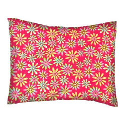 SheetWorld - SheetWorld Crib / Toddler Percale Baby Pillow Case - Floral Bright Pink - Baby or Toddler pillow case. Made of an all cotton percale fabric. Opening is in the back center and is envelope style for a secure closure. Features a beautiful floral print on a bright pink background.