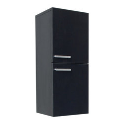 Fresca - Fresca Bathroom Linen Side Cabinet w/Two Storage Areas - Black - This great side cabinet features two storage areas each equipped with a door featuring slow closing hinges.