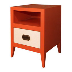 Newport Cottages - Devon Nightstand - Everybody could use a nightstand with a handy cubby at the top to hold books, flashlights, wallet and other personal items. You can't help but fall in love with the unique and charming polished good looks, clean lines and eye-catching contrasting colors of the Devon nightstand.