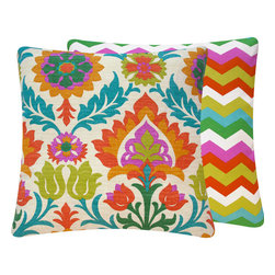 Cinco de Mayo Mimosa Outdoor Throw Pillow l Chloe and Olive - Chloe & Olive