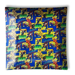 "Superman Superhero Ceiling Light - 12"" square semi flushmount ceiling lamp with designer finish. Includes complete installation instructions and complete light fixture. Wipes clean with a damp cloth. Uses 2-60 watt bulbs (not included) and is made with eco-friendly/non-toxic products. This is not a licensed product, but is made with fully licensed products."