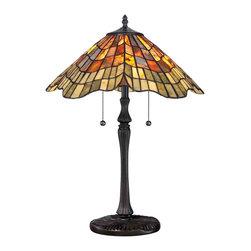 Quoizel Lighting - Quoizel TF1510TVB Tiffany Vintage Bronze Table Lamp - 2, 75W A19 Medium