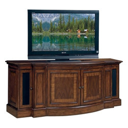 """Sligh - Winchester 71"""" TV Stand Console, Winchester With, Laid Walnut - Imaginatively designed and stylishly finished, Sligh leads the way in home entertainment with cabinets, consoles and modular walls that not only flexibly accommodate today's most popular TVs, but also ingeniously anticipate tomorrow's. Regardless of the dimensions of your TV (or your TV room), and whether you prefer your set proudly displayed or discreetly hidden, Sligh has a product suited to your taste."""