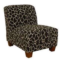 Chelsea Home Furniture - Chelsea Home Sally Armless Chair in Giraffe - Sally armless chair in Giraffe belongs to Triad collection by Chelsea Home Furniture