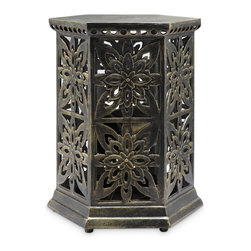 Rosette Garden Stool with Bluetooth Speakers - Shipping is included in the price!