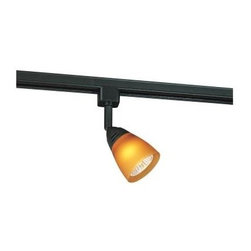 Hampton Bay - Hampton Bay Linear Track Head Black Finish EC3490BK - Shop for Lighting & Fans at The Home Depot. This 120 Volt linear track fixture features frosted white and amber interchangeable glass shades. The fixture is multi-directional and can be adjusted to many different positions. The fixture uses a 50-watt GU10-16 halogen light bulb which is included. Halogen bulbs have high lumen output per watt and provide bright crisp light which enhances colors and textures. The fixture is compatible with any Hampton Bay EC series or H series line voltage linear track system.