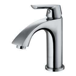 """Vigo - Vigo VG01028CH Chrome Bath Faucets Single Handle Chrome Bathroom - Elegance is at your fingertips with this curved Vigo faucet. Vigo s standards for quality and style are unmatched.  Solid brass construction and chrome finish ensures durability and longer life High-quality ceramic disc cartridge ensures maintenance-free use  Mineral-resistant nozzle is easy-to-clean Vigo finishes resist corrosion and tarnishing, exceeding industry durability standards Easy single-hole installation Modern single lever for water and temperature control All mounting hardware and hot/cold waterlines included (drain assembly not included) Water pressure tested for industry standard Standard US plumbing 3/8"""" connections Standard 1 3/8"""" diameter opening is required Overall height: 7 1/2"""" 2.2 GPM flow rate  Pop up drain not includedLimited Lifetime Warranty"""