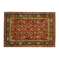 New Zealand Wool Hand Knotted 4x6 Sarouk Fereghan 300 kpsi Oriental Rug SH16465 - This collection consists of fine knotted rugs.  The knots per square inch means more material in the rug as well as more labor.  This leads to a finer rug and a more expoensive rug.  Classical and traditional persian motifs are usually used as designs in these rugs.
