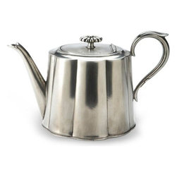Match Pewter - Britannia Tea Pot by Match Pewter - Using methods that predate the Renaissance, Match artisans fashion pewter into functional objects of warmth and beauty. Serve your coffee or tea in style with this charming collection from Match pewter.