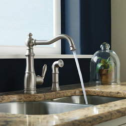 MOEN - MOEN - Weymouth Kitchen Faucet - Model: S72101SRS in Spot Resist Stainless - Weymouth represents the essence of traditional styling, delivering uncommon luxury to the kitchen. It combines gracious design details and distinctive Victorian finishing touches with new features you will love.