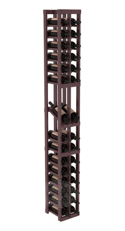 2 Column Display Row Cellar Kit in Pine with Burgundy Stain + Satin Finish - Make your best vintage the focal point of your wine cellar. High-reveal display rows create a more intimate setting for avid collectors' wine cellars. Our wine cellar kits are constructed to industry-leading standards. You'll be satisfied. We guarantee it.