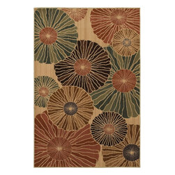 Mohawk Home - Mohawk Kaleidoscope Parasol Multi Contemporary 8' x 10' Rug (9130) - Reminiscent of open parasols on a rainy day, this rug's design bring a muted color pallete that is a great foundation for an inspire decor design. Unsurpassed in quality and style without sacrificing affordability, Mohawk Home