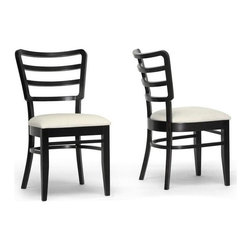 Wholesale Interiors - Coventa Dining Chair in Brown Finish - Set of - Its nothing but smooth sailing during dinnertime as far as the Coventa designer dining chairs are concerned.