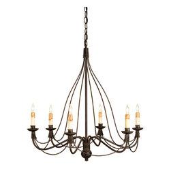 Currey & Co - Currey & Co 9421 Trademark Blacksmith 6 Light Chandelier - 6 Bulbs, Bulb Type: 60 Watt Candelabra; Weight: 10lbs