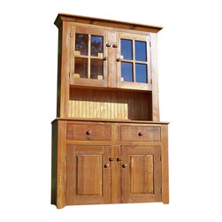 Fable Porch Furniture - Shaker Hutch and Buffet - Bring Shaker chic to your traditional dining setting. This handsome hand-crafted pine hutch and buffet looks striking and has all the storage you need.
