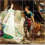 Picture-Tiles, LLC - Tristan And Isolde Tile Mural By Herbert James Draper - * MURAL SIZE: 24x36 inch tile mural using (24) 6x6 ceramic tiles-satin finish.