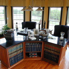 Traditional Home Office by Laura Manning Bendik