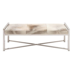 """Benzara - The Heartthrob Stainless Steel Grey Leather Bench - Looking for a bench that gives exceptional comfort while adding amazing and stylish looks to your room? Well, you can stop your search because the stainless steel grey leather bench will definitely take your fancy. In what is a lovely stainless steel frame, this bench has a very comfortable leather cushion. Perfect for the living room or the library or even the veranda, this bench will give you unmatched comfort. Additionally, it has been made using quality materials; this ensures that it will last with you for years to come. All who see it will not only be impressed by both: its looks and its comfort. A perfect addition to the modern decor, this bench's stylish look will impress one and all. It will indeed become your heartthrob. Stainless steel grey leather bench dimensions: 22 inches (W) x 20 inches (D) x 17 inches (H); Leather bench color: Grey; Made from: Stainless steel, leather; Dimensions: 9""""L x 9""""W x 19""""H"""