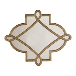 Hooker Furniture - Visage Shaped Mirror - Versailles' Hall of Mirrors will have nothing on you when you hang this amazing gilded mirror in your home. Over a mantelpiece or in a dining room, it will create an illusion of the luxury of a French Chateaux. You'll have heat though!