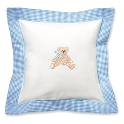 Baby Pillow, Blue Bow Teddy