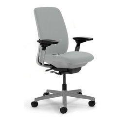 Steelcase - Steelcase Amia Task Chair, Platinum Base w/Arms & Soft Casters, Nickel - Everyone needs a support system at work. This task chair actually flexes with every move so you feel comfortable, energized and completely supported at whatever task is at hand. Soft casters are specifically designed to keep you rolling on hardwood floors.