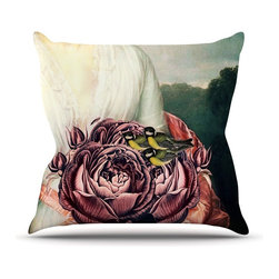 """Kess InHouse - Suzanne Carter """"The Bouquet"""" Throw Pillow (Outdoor, 18"""" x 18"""") - Decorate your backyard, patio or even take it on a picnic with the Kess Inhouse outdoor throw pillow! Complete your backyard by adding unique artwork, patterns, illustrations and colors! Be the envy of your neighbors and friends with this long lasting outdoor artistic and innovative pillow. These pillows are printed on both sides for added pizzazz!"""
