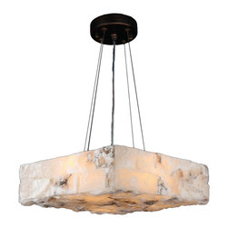 Worldwide Lighting - Pompeii 4 Light Flemish Brass Finish & Natural Quartz Large Square Pendant - This stunning 4-light Large Square Pendant only uses the best quality material and workmanship ensuring a beautiful heirloom quality piece. Featuring a radiant flemish brass finish and natural quartz stone from Spain, this elegant quartz pendant will liven up any room. The quartz stone used in this fixture is not mass produced. No synthetic process could replicate the natural beauty of this beautiful quartz pendant. Worldwide Lighting Corporation is a premier designer manufacturer and direct importer of fine quality chandeliers, surface mounts, and sconces for your home at a reasonable price. You will find unmatched quality and artistry in every luminaire we manufacture.