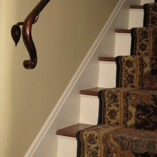 Traditional Staircase by john thompson designer